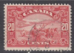 "Canada Scott #157  20 cent Harvesting Wheat dark carmine ""KGV Scroll""  F"