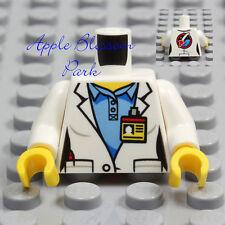 NEW Lego Female Minifig SCIENTIST TORSO Girl Rocket Doctor White Lab Coat Shirt
