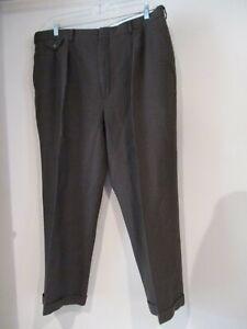 RALPH LAUREN brown red plaid winter wool dress pants sz 40