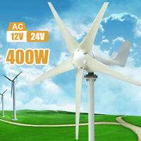 400W 3/5 Blades Wind Mill Turbine Generator Hybrid Option Aerogenerator 12/24V