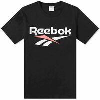 Reebok Classics Vector Short Sleeve Tee Size XS Black RRP £28 Brand New DW9508