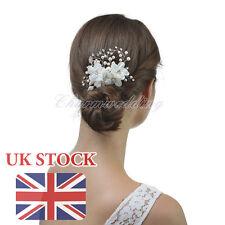 Classic Bridal Wedding Hair Comb Pearl Crystal Diamante Hairpin Clip Accessory