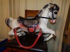 Vintage Wonder Horse Colt Spring Rocking Horse Blk Wht Red