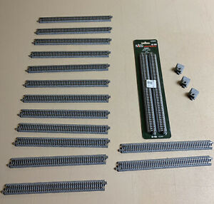 "Kato 20-000 N Gauge Unitrack 248mm 9 3/4"" Straight Track 16 Pieces S248 20-000"