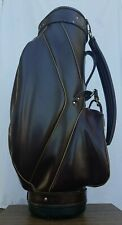 New listing VINTAGE LEATHER ARNOLD PALMER GOLF BAG WITH CLUB COVER 85474M