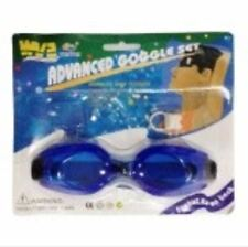 Swimming Goggles with Earplug and nose clip (Dark blue)