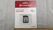 NEW, TRANSCEND 16GB Memory Card UHS-I SD 300S