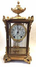 Antique quality SETH THOMAS crystal regulator  mantel clock Urn top  #48N