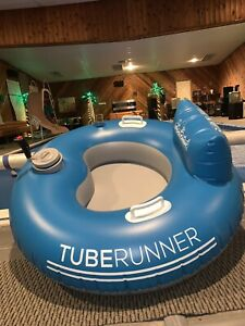 Motorized Pool Tube Pool Candy Tube Runner Float Inflated But Unused SAVE