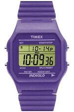 Timex Orologio Watch T2M891 T80 Classic Digitale Gomma Colorato Viola Crono Data