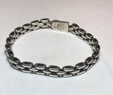 Sterling Silver Taxco Made In Mexico Vintage Initial NIH Link Bracelet