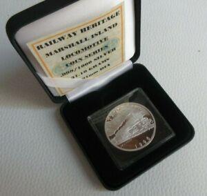 1996 Steam Train DB CLASS 01 MARSHALL ISLANDS $50 Dollars Silver Proof Coin