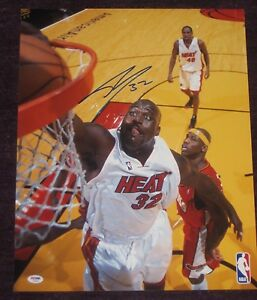 SHAQUILLE O'NEAL Signed Miami HEAT 16 x 20 PHOTO with PSA COA