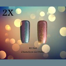 2X RS Nail 0112 Chameleon Gel Color Changing UV LED Gel Polish Varnish Glitter