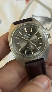 Vintage Zenith AutoSport Luxe 28800 Automatic Swiss Made Ref GR 720001 Date