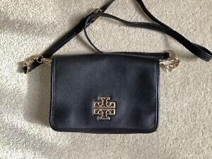 Tory Burch black leather small crossbody