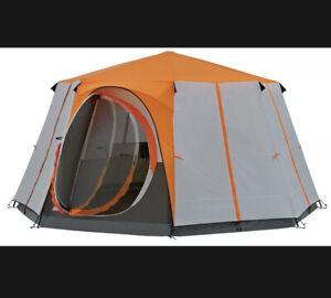 Coleman Cortes 2021 8-Berth Orange Octagon Family Tent Camping Glamping Caravan