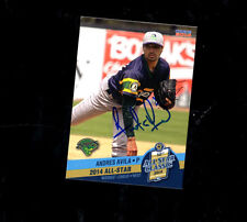Andres Avila 2014 Midwest League All Star Beloit Snappers auto signed card