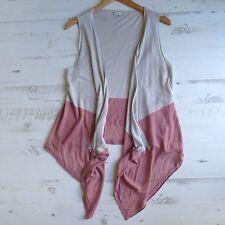 POETRY Silk & Linen Knit Sleeveless Cardigan Drapey Waistcoat Lagenlook UK 12