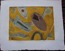 Gravure carborandum etching Henri GOETZ signée numérotée petit tirage s/ 54 **