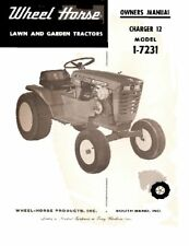 Wheel Horse Charger 12 lawn Tractor manual Model 1-7231