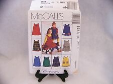 McCall's 8348 Girls' Jumper with Appliques 7, 8, 10  Sewing Pattern UNCUT