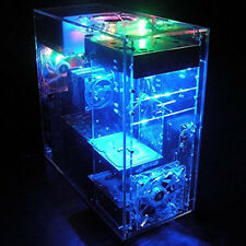 DIY Personalized Transparent Acrylic MOD ATX Standard Computer Case PC Game Sink