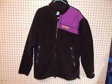 Womens ski-doo bombardier polartec fleece jacket -black / purple - size large