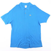 LACOSTE  Blue Classic Short Sleeve Polo Shirt Mens XL