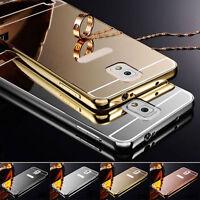 Funda Carcasa Luxury Aluminum Bumper Mirror Espejo para Samsung Galaxy Phones