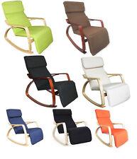 Poltrona Relax Mod. ZEN Sedia a Dondolo con Poggiapiedi Regolabile Vari Colori