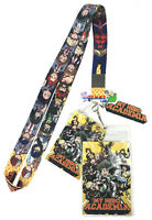 **Legit** My Hero Academia Class 1A Group Key Art Badge ID Holder Lanyard #37877