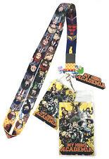 **Legit** My Hero Academia Class 1A Group Key Art Badge ID Holder Lanyard #37877