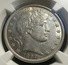 USA 50 cents Barber Half dollar 1899 NGC AU Details About UNC