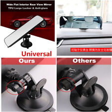 Anti-glare Car Truck Wide Flat Interior Rear View Rearview Mirror Suction Cup