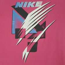 New listing Vtg 80s Nike T-Shirt M Pink Double Sided Single Stitch Gray Tag Spell Out Cotton