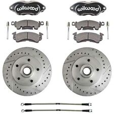 1979-81 GM Wilwood Front Disc Brake Conversion Kit W/ Braided Hoses