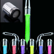 LED Water Faucet Light 7 Colors Changing Glow Tap Head Kitchen Tap TE New