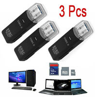 3 X USB 3.0 2 in 1 HighSpeed Memory Card Reader for Micro SD SDXC TF T-Flash USA