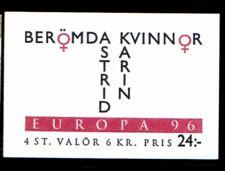 SWEDEN Karin Kock & Astrid Lindgren EUROPA 1996 MNH booklet