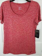 Nike Women's T-Shirt Dry Legend Scoop Veneer Sz Med Red Heather NWT