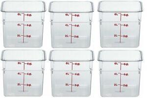 """6 Cambro 6SFSCW135 CamSquare Container 6 qt. 8-3/8"""" x 8-3/8"""" x 7-1/4"""" Square"""
