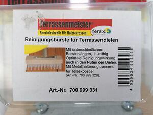 Ferax Bürstenaufsatz Reinigungsbürste für Terrassendielen
