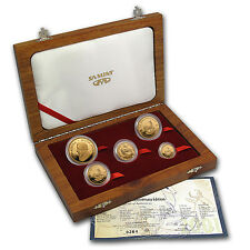 2001 South Africa 5-Coin Gold Krugerrand Proof Set (w/Box & COA) - SKU #29009