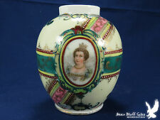 Antique FINELY Hand Painted Portrait Ginger Jar Unmarked English? BEAUTIFUL