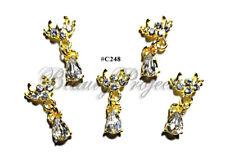 5pc Nail Art Charms 3D Nail Rhinestones Decoration Jewelry DIY Bling - C248