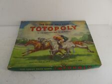 Vintage Waddington Totopoly Board Game With Game Pieces(Missing Some Cards)(J16)