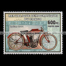 ★ INDIAN 500 3,5 HP 1911 ★ CONGO Timbre Poste Moto Classic Motorcycle Stamp #274