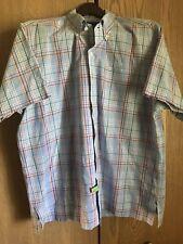 RALPH LAUREN BOB CAMP Men's 100% Cotton S/S Button Front Shirt L