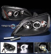 2001-2003 HONDA CIVIC 2/4DR CCFL HALO BLACK PROJECTOR HEAD LIGHTS+DRL LED BUMPER